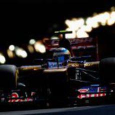 Jean-Eric Vergne sale del túnel durante los libres del GP de Mónaco 2012