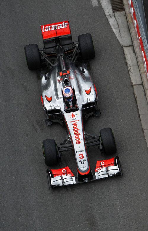 Vista superior del monoplaza de Jenson Button