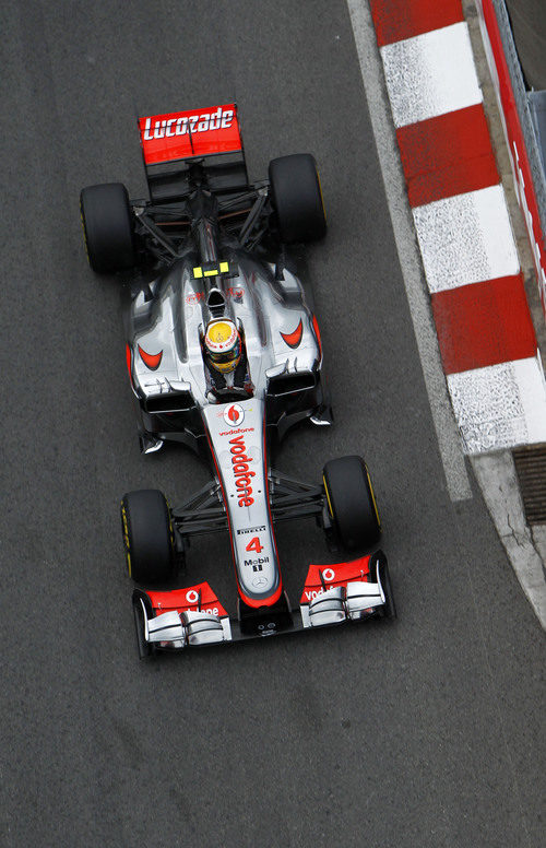 Vista superior del monoplaza de Lewis Hamilton