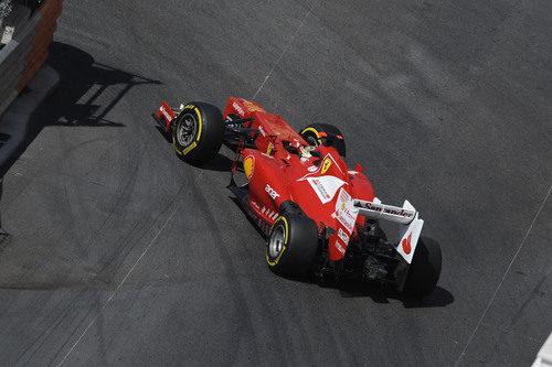 Fernando Alonso a los mandos del F2012 en Mónaco