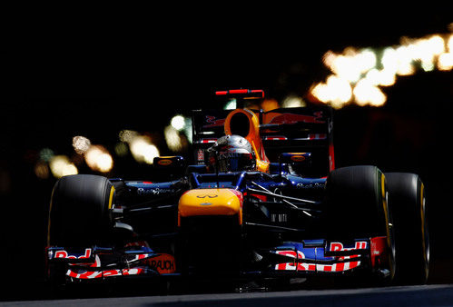 Sebastian vettel sale del túnel en Mónaco