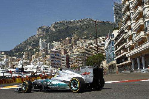 Plano trasero del W03 de Nico Rosberg