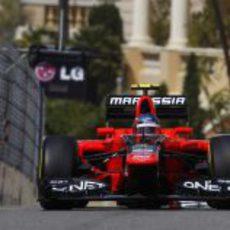 Charles Pic exprime su MR01 en los Libres 1 del GP de Mónaco