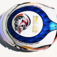 Casco especial de Jean-Eric Vergne para el GP de Mónaco 2012 (superior)