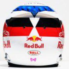 Casco especial de Jean-Eric Vergne para el GP de Mónaco 2012 (trasera)