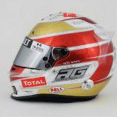 Casco especial de Romain Grosjean para el GP de Mónaco 2012