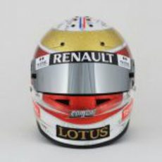 Casco especial de Romain Grosjean para el GP de Mónaco 2012 (frontal)