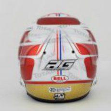 Casco especial de Romain Grosjean para el GP de Mónaco 2012 (trasera)