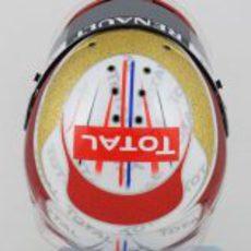 Casco especial de Romain Grosjean para el GP de Mónaco 2012 (superior)
