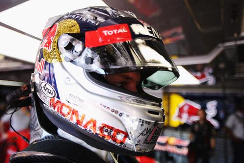 Casco especial de Sebastian Vettel para el GP Mónaco 2012