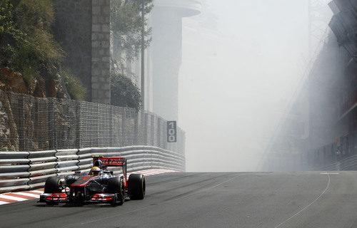 Mucho humo en el túnel de Mónaco