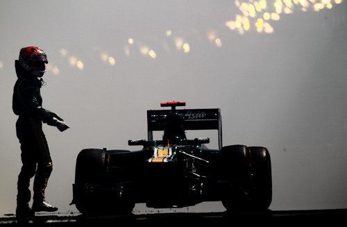 Heikki Kovalainen rompe el motor en Mónaco