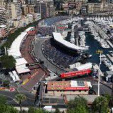 Boxes y tribuna principal del GP de Mónaco 2012