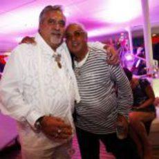 Vijay Mallya, jefe de Force India, organizó la fiesta