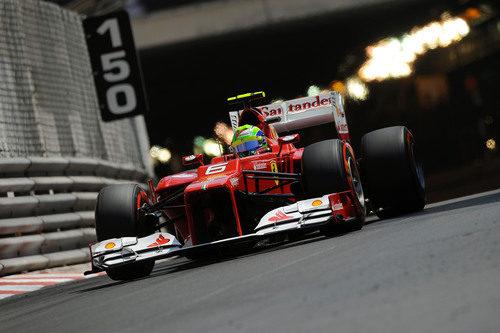 Felipe Massa en la clasificación del GP de Mónaco 2012