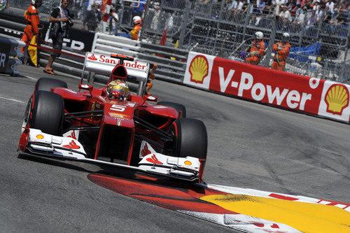 Fernando Alonso en la clasificación del GP de Mónaco 2012