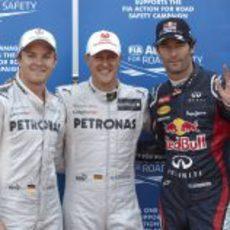 Schumacher, Webber y Rosberg los más rápidos en Mónaco 2012
