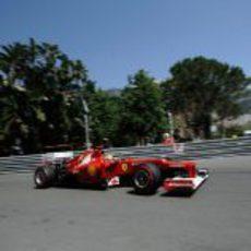 Fernando Alonso durante la clasificación del GP de Mónaco