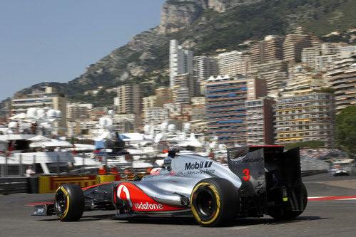 Jenson Button durante la clasificación del GP de Mónaco