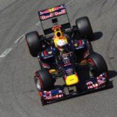 Sebastian Vettel durante la clasificación del GP de Mónaco