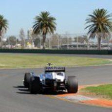 Nick Heidfeld en Melbourne