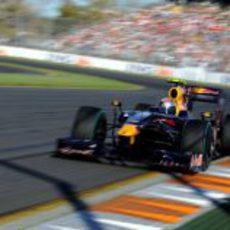 Vettel durante la clasificación