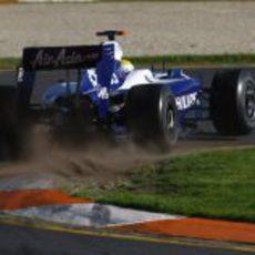 Rosberg durante la clasificación