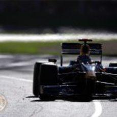 Webber durante la carrera de Melbourne
