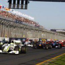La salida del GP de Australia