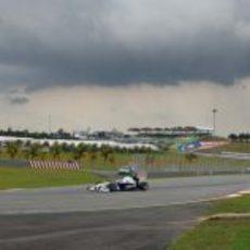 El cielo nublado de Malasia