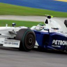 Heidfeld durante la sesión de clasificación