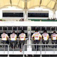 El muro del equipo Renault