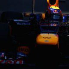 Plano de Mark Webber a los mandos del RB8