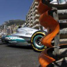 Nico Rosberg durante la clasificación del GP de Mónaco