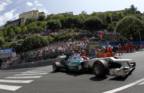 Michael Schumacher rueda con los neumáticos superblandos