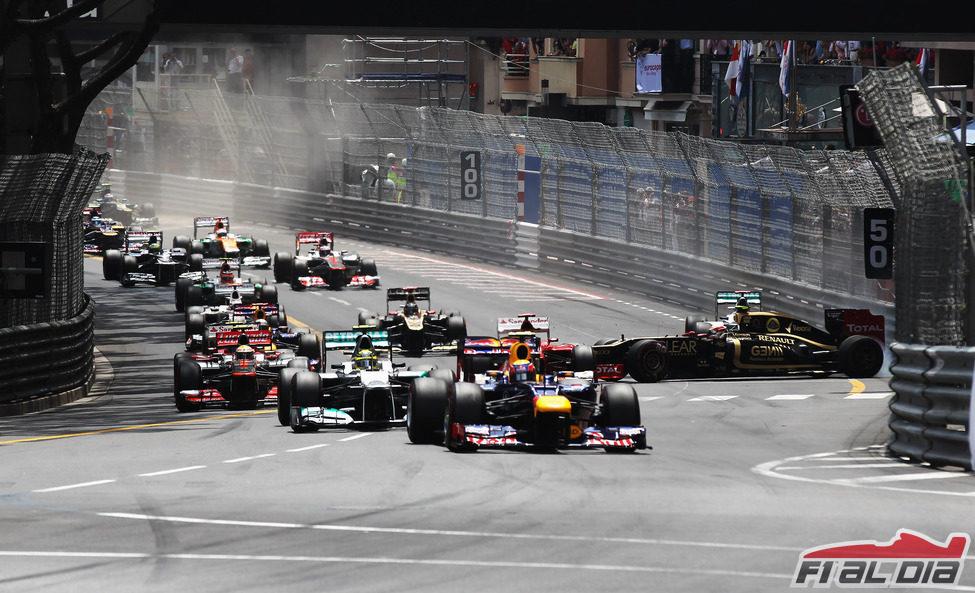 Salida del GP de Mónaco 2012