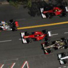 La salida del GP de Mónaco 2012 desde arriba