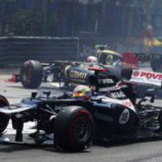 El Williams de Maldonado destrozado en Mónaco