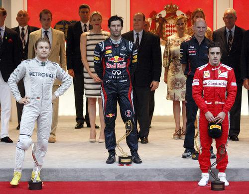 Podio del GP de Mónaco 2012