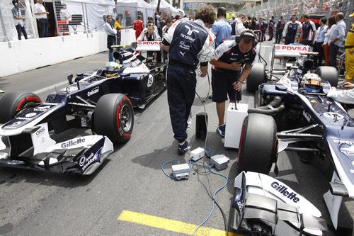Pastor Maldonado y Bruno Senna, a la parrilla