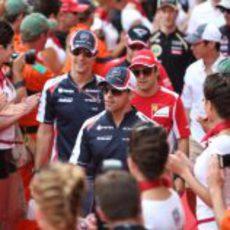 Desfile de pilotos en el Gran Premio de Mónaco 2012