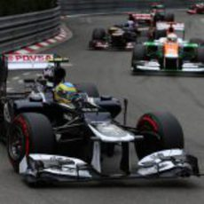 Bruno Senna lucha por puntuar en Mónaco