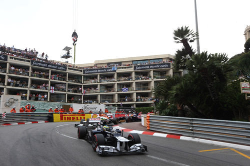 Mucha pelea en la horquilla de Mónaco