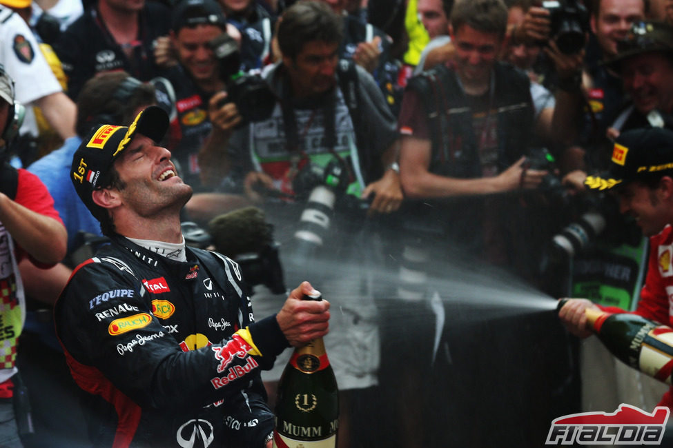 Mark Webber disfrutó como nunca en Mónaco