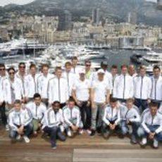 La Selección de Alemania junto a Schumacher y Rosberg en Mónaco