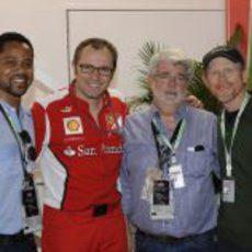Cuba Gooding Jr., Stefano Domenicali, George Lucas y Ron Howard en Mónaco