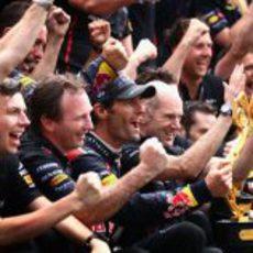 Red Bull celebra su victoria en el GP de Mónaco 2012