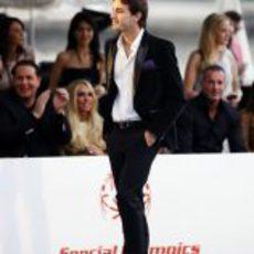 Jules Bianchi en el desfile Amber Lounge de Mónaco