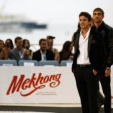 Bianchi y Petrov en el Amber Lounge de Mónaco