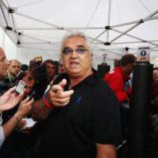 Flavio Briatore en el GP de Mónaco 2012